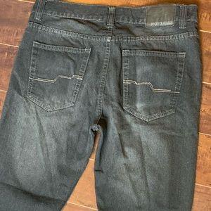 moto Jeans - Men's grey moto Jeans size 34